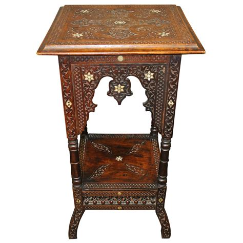 Middle Eastern Furniture by 19th Century Moorish Side Table Or Stand Middle Eastern