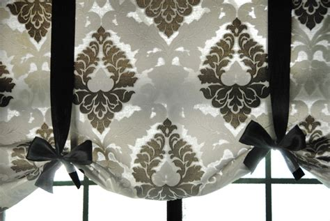 easy simplicity tie up shades window treatment curtain home front entry make a short ribboned valance to cover front