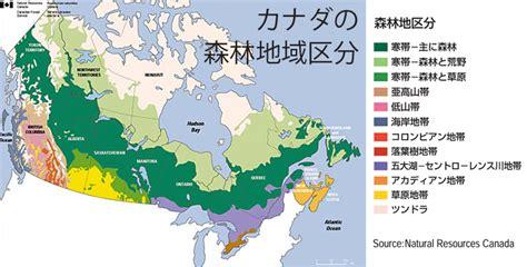 canadian map legend カナダの森林 cofi