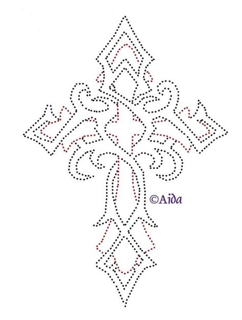 Cross Tattoos Heels And String Art On Pinterest Cross String Template