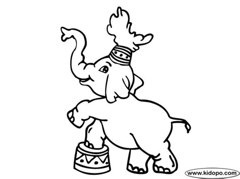 Elephant Circus Coloring Page Circus Elephant Coloring Page