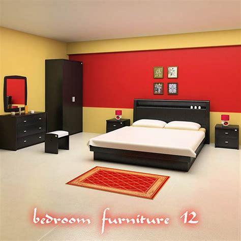 3d bedroom sets bedroom furniture 12 set 3d model hum3d
