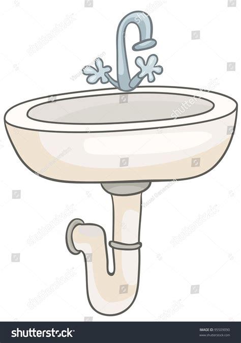 cartoon bathroom sink cartoon home washroom sink isolated on stock vector