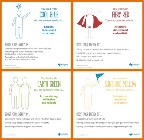 insights colors identifying personality energy types at work with colours