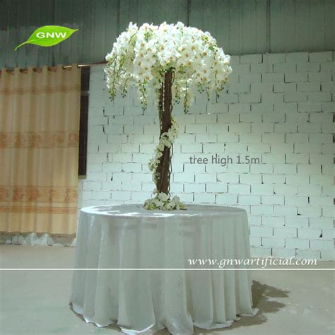gnw ctr1504 1 tall artificial plastic white blossom tree