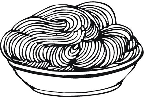 free coloring pages of pasta
