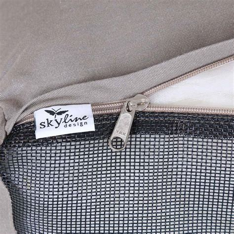 stuhl taupe skyline designer stuhl inkl kissen sunbrella taupe alu