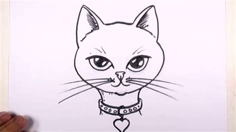 cat easy easy drawings of cats cat drawing free