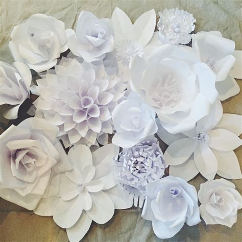 Paper Flowers With - paper flower backdrop flower 1 bigdiyideas