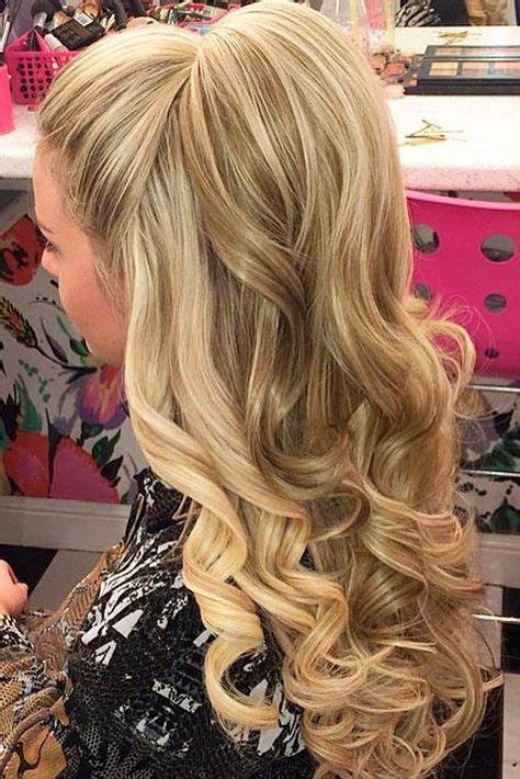 elegant hairstyles for christmas party 18 nice holiday half up hairstyles for long hair down