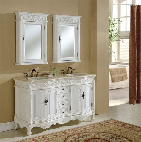 Antique White Double Vanity 60 Quot Tuscany Antique White Double Sink Vanity Antique