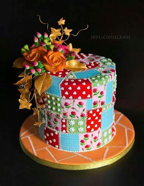 Patchwork Cake - 53 best patchwork cakes images on patchwork