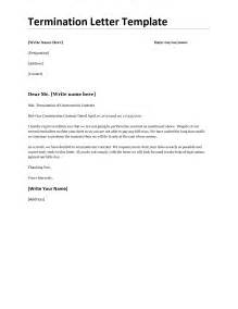 Termination Letter Format Word Doc 501686 Employment Termination Letter Template Bizdoska