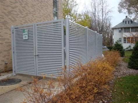 Home Exterior Design Toronto trash enclosure gates ametco manufacturing