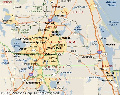 map of orlando fl map of central florida orlando pictures to pin on pinsdaddy