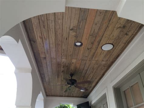 Stained Tongue And Groove Ceiling by Ceilings In Houston