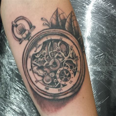 pocket watch tattoo skeleton pocket watch tattoo by