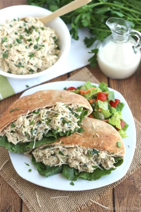 crock pot chicken caesar sandwiches two healthy kitchens