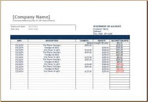 statement of account template sample statement of account