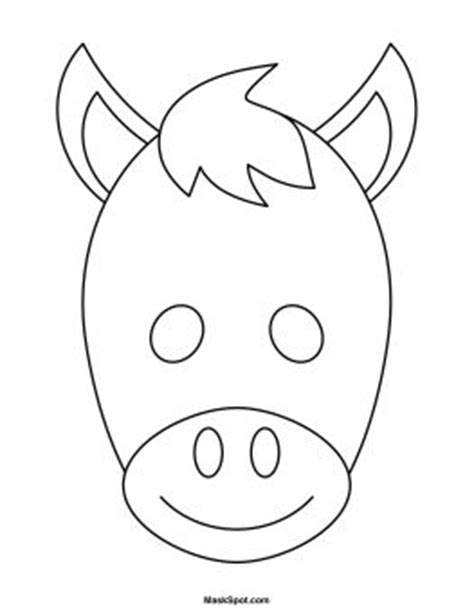 printable mask horse the 25 best ideas about donkey mask on pinterest horse