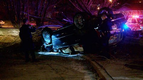 custody  police chase ends  car  tree