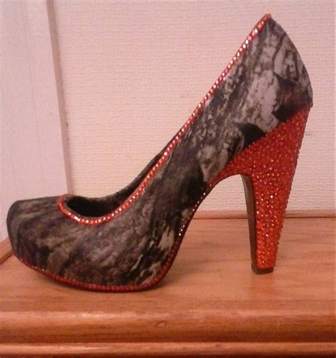 Handmade High Heels - beautiful handmade upcycled high heels camo