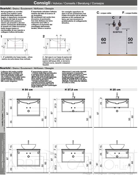 misure scarichi bagno mobile arredo bagno sospeso moderno country doppia vasca