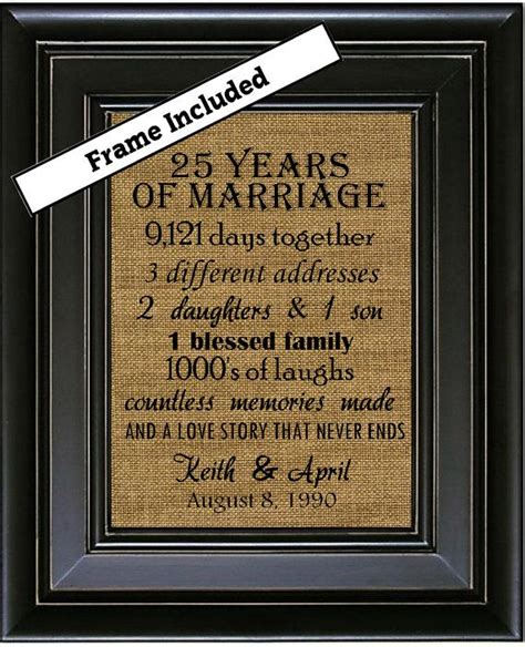 25th wedding anniversary diy gifts best 25 25 year anniversary gift ideas on diy
