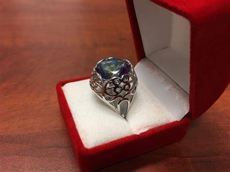 Chagne Topaz 12 25ct 25ct blue mystic topaz filigree design ring