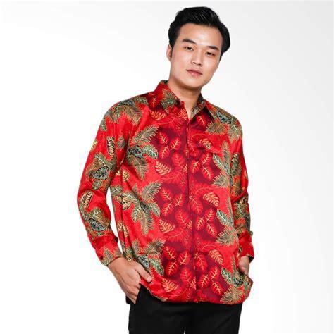 Kemeja Batik Priasabit Merah jual blitique abimayu mengunir kemeja batik pria merah harga kualitas terjamin