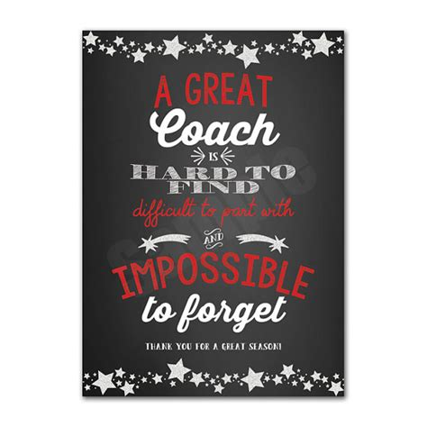 appreciation letter to a coach coach appreciation thank you card printable instant