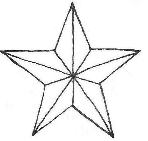 star outline tattoo outline nautical design