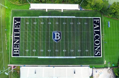 bentley college football bentley university football stadium bentley