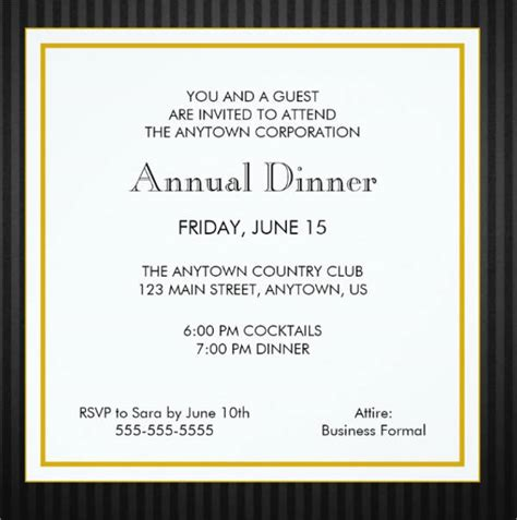 Business Invitation Letter Doc doc 8061200 formal dinner invitation sle formal