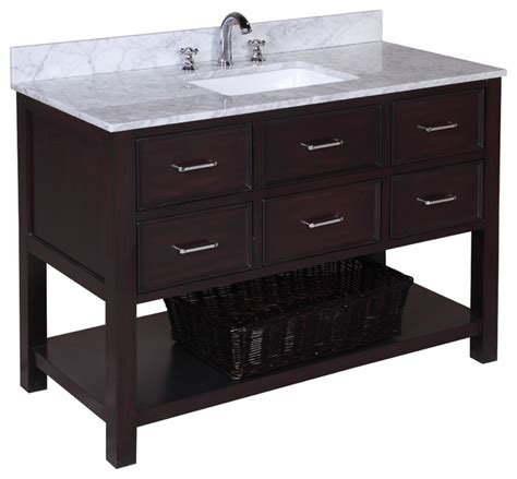 new bathroom vanity new hshire 48 quot bath vanity carrara chocolate