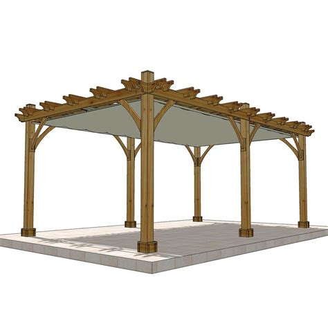 Outdoor Living Today Breeze Cedar 12 Ft X 20 Ft Pergola Pergola With Retractable Canopy