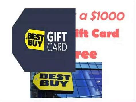 Free Best Buy Gift Cards - how to get a 1000 best buy gift card for free youtube
