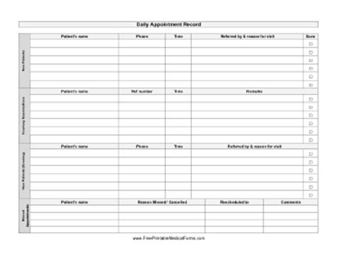 appointment printable sheet calendar template 2016