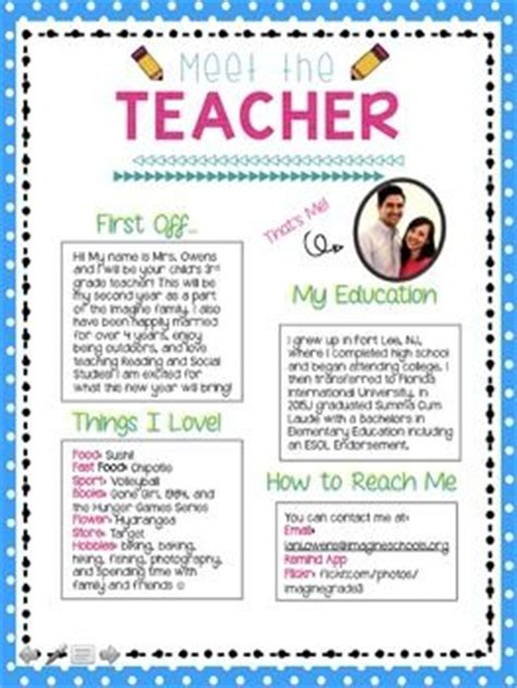 Parent Information Letter Template 1000 ideas about letters on meet the