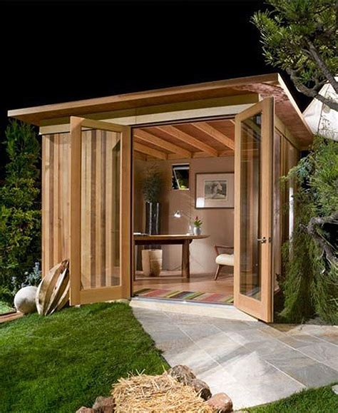 backyard shed office plans at first it looks like a regular backyard shed but just