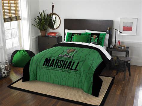 marshalls bedding sets ncaa marshall thundering herd queen comforter with 2 shams