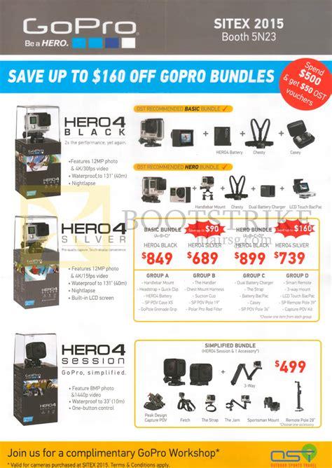 Gopro 4 Singapore ost gopro cams bundles hero4 black hero4 silver hero4 session simplified bundles sitex