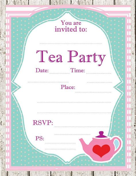 12 Cool Mad Hatter Tea Party Invitations Kitty Baby Love Teacup Invitations Template