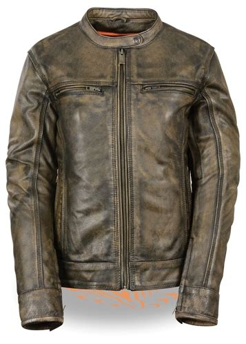 motorcycle riding vest women s distressed brown leather motorcycle riding jacket
