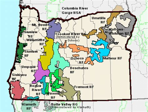 map of oregon forests file oregon national forest map gif
