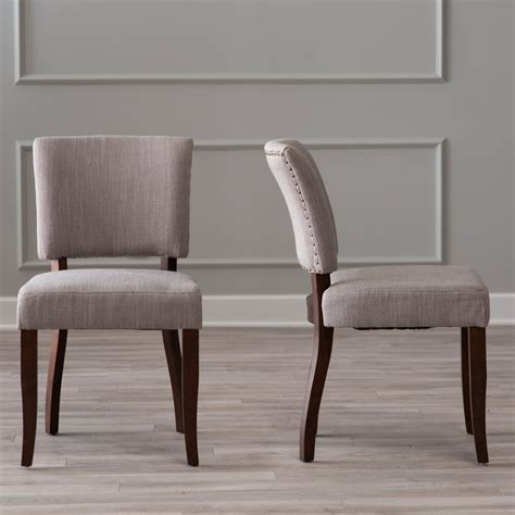 the look for less transitional upholstered dining chairs