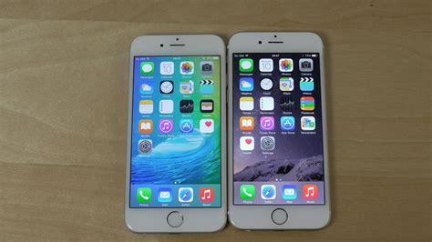 iphone 6 ios 9 beta vs iphone 6 ios 8 4 beta 4 benchmark speed test 4k
