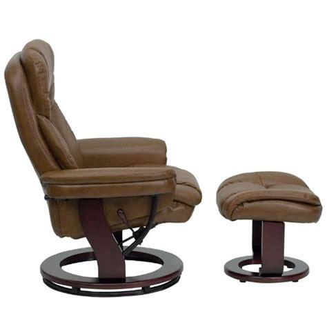 Overstuffed Chairs With Ottoman Ergonomic Lever Recliner Ottoman Set Overstuffed Padded Chair Bearing Base Ebay