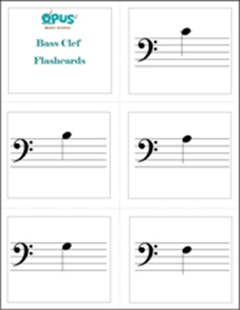 printable treble clef note flash cards free printable music worksheets opus music worksheets