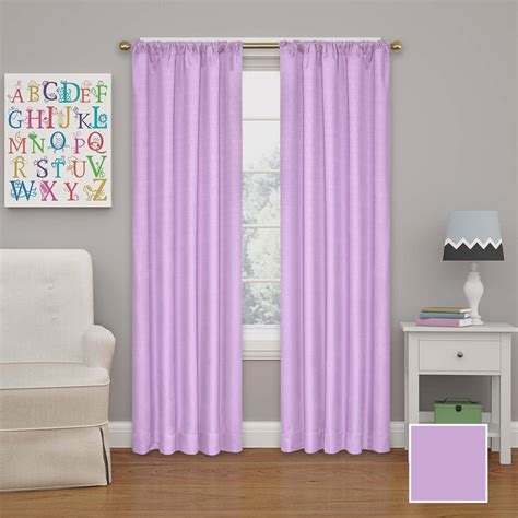 Purple Eclipse Curtains Eclipse Kendall 63 In L Polyester Curtain In Light Purple 10707042x063lpr The Home Depot